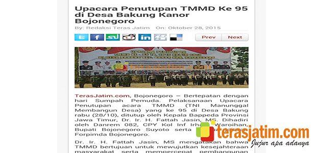 Juara III Karya Jurnalistik TMMD ke 95, Kodim 0813 Syukuran