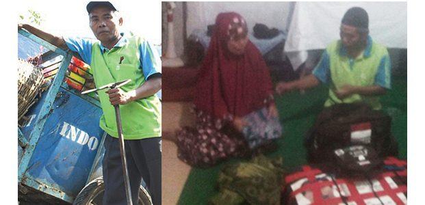 Lebih dari 7 Tahun Menabung, Tukang Sampah dari Jember ini Bisa Berangkat Haji