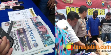 Peras Kades Ratusan Juta, Dua Wartawan 'Bodrek' Dicokok Polisi Bojonegoro